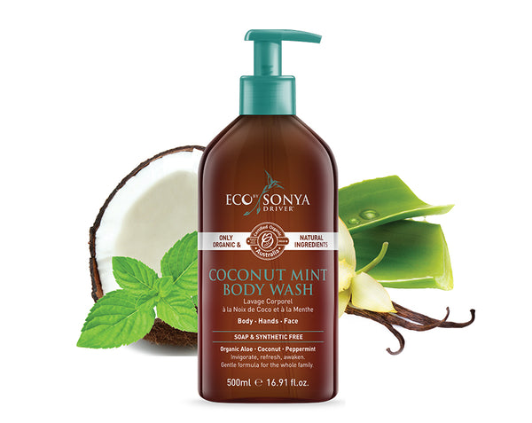 Gel douche menthe et coco Bio, Vegan Eco by Sonya Driver - The New Pretty