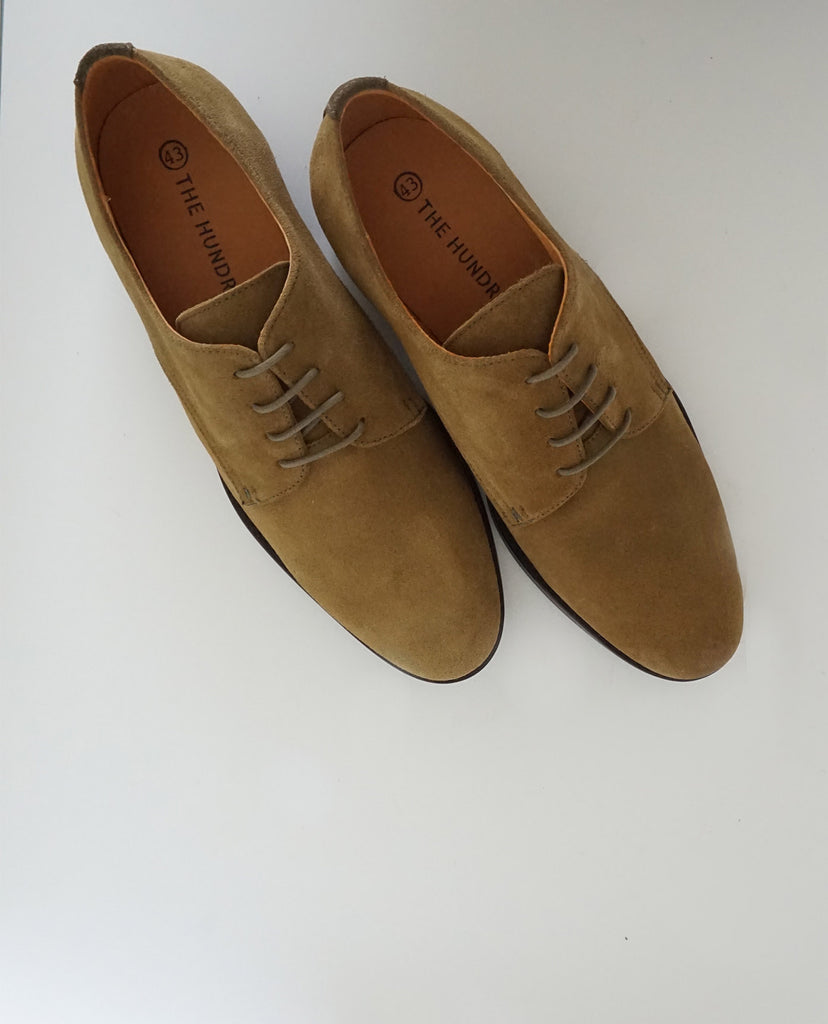 Zapato Oxford Ante Kaki The Hundred Shoes upper