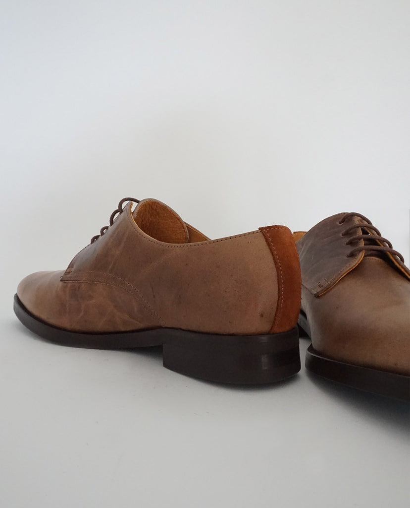 Zapato Oxford Cuero Marrón talon - The Hundred Shoes