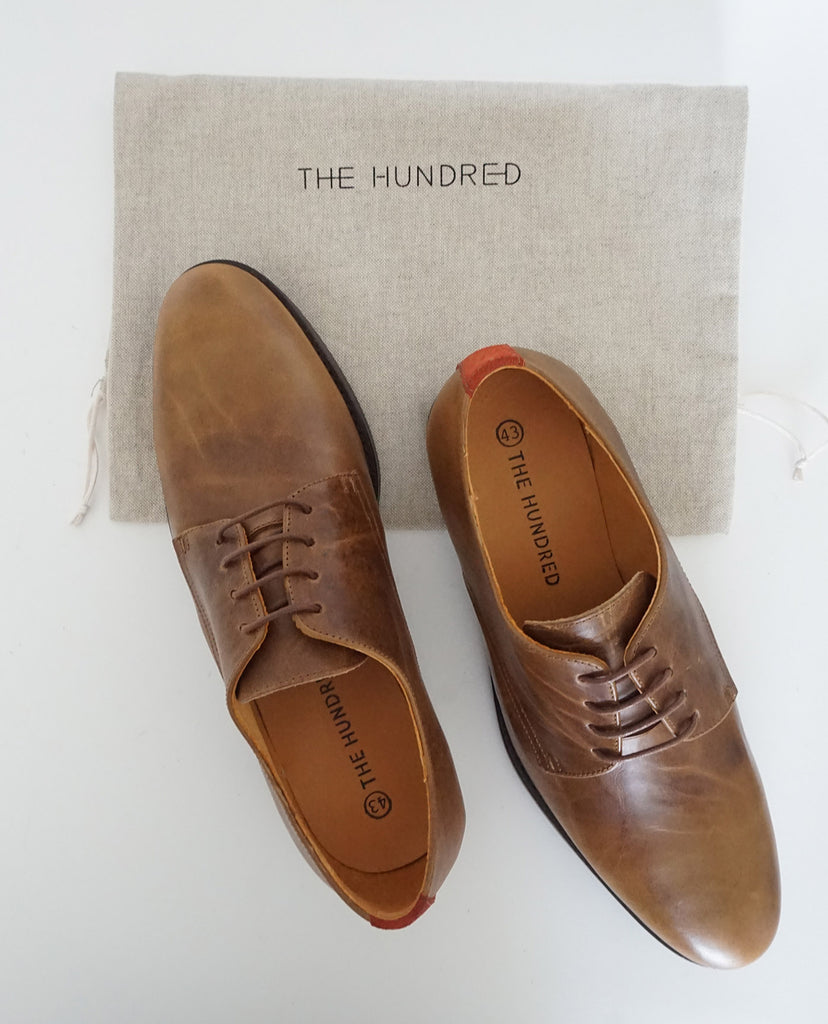 Zapato Oxford Cuero Marrón The Hundred Shoes