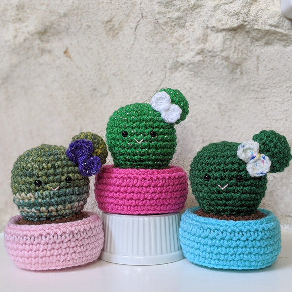 Crochet Ball Cactus Pattern is now available!