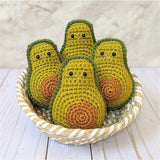 Crochet Avocado Pattern, Amigurumi Food Plushes, Easy Beginner Patterns