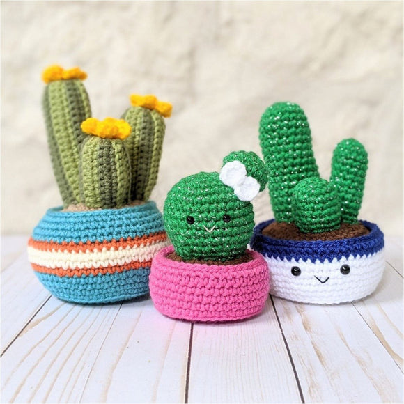CROCHET PATTERN PACK: Cozy Fall Cactus, Ball Cactus, Cactus Trio