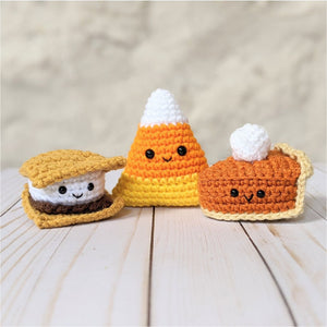 CROCHET PATTERN PACK: Fall Treats - Baby Pies, Candy Corns, S'mores