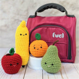 CROCHET PATTERN PACK: Lunchbox Fruits - Apple, Banana, Orange, Pear