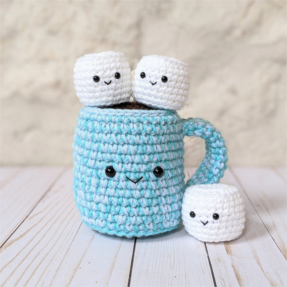 CROCHET PATTERN: Hot Chocolate with Marshmallows (Double Stranded)
