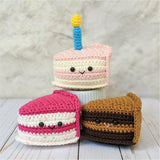 CROCHET PATTERN: Birthday Cake Slice