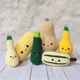 Crochet Fall Vegetable Pattern, Squash Veggies Amigurumi Patterns, Easy Beginner Crochet Patterns