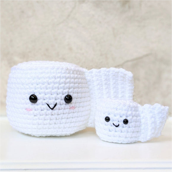 CROCHET PATTERN: Toilet Paper Roll (large and small)