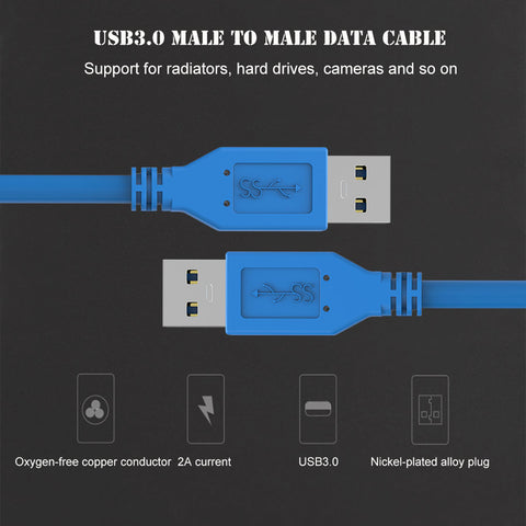 0.3m 0.5m 1m USB 3.0 Cable Male To Male USB Extension Cable Super Speed USB 3.0 Extender Data Cabo