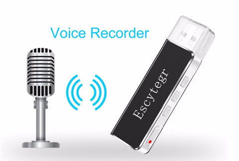 003 Escytegr Mini Voice Recorder Digital Sound Audio Recorder 8GB USB Flash Driver MP3 Player