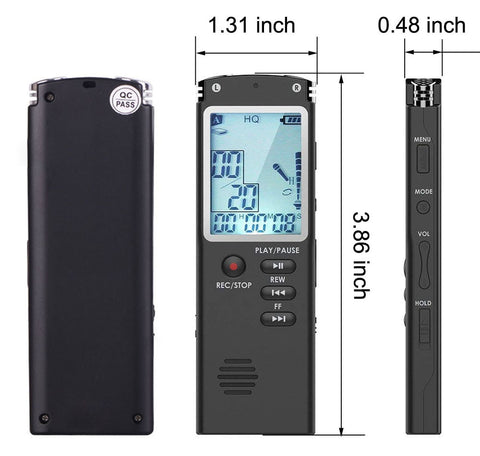 003 Escytegr Portable Dictaphone 1536kbps Voice Activated Recording
