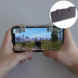 1 pair Black mobile phone gaming trigger fire button for l1r1 shooter controller