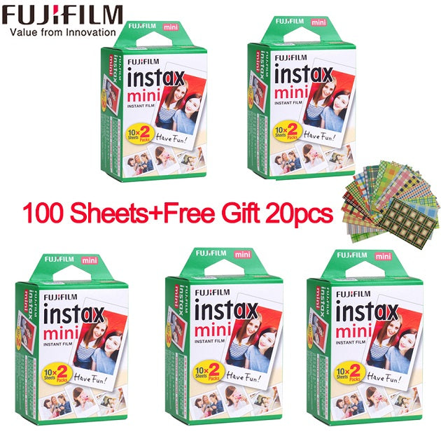 10/20/40/50/60/80/100 sheets Fuji Fujifilm instax mini 9 8 white Edge films for instax Instant