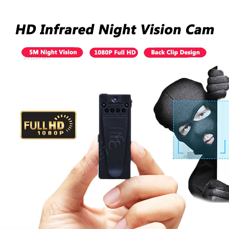 10 Hours Video Mini Camera 1080P Full HD Webcam Night Vision Motion Sensor Digital Audio Recorder