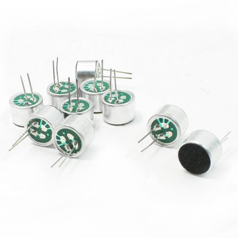10 PCS 9.7mm x 7mm 2 Pin MIC Capsule Electret Condenser Microphone