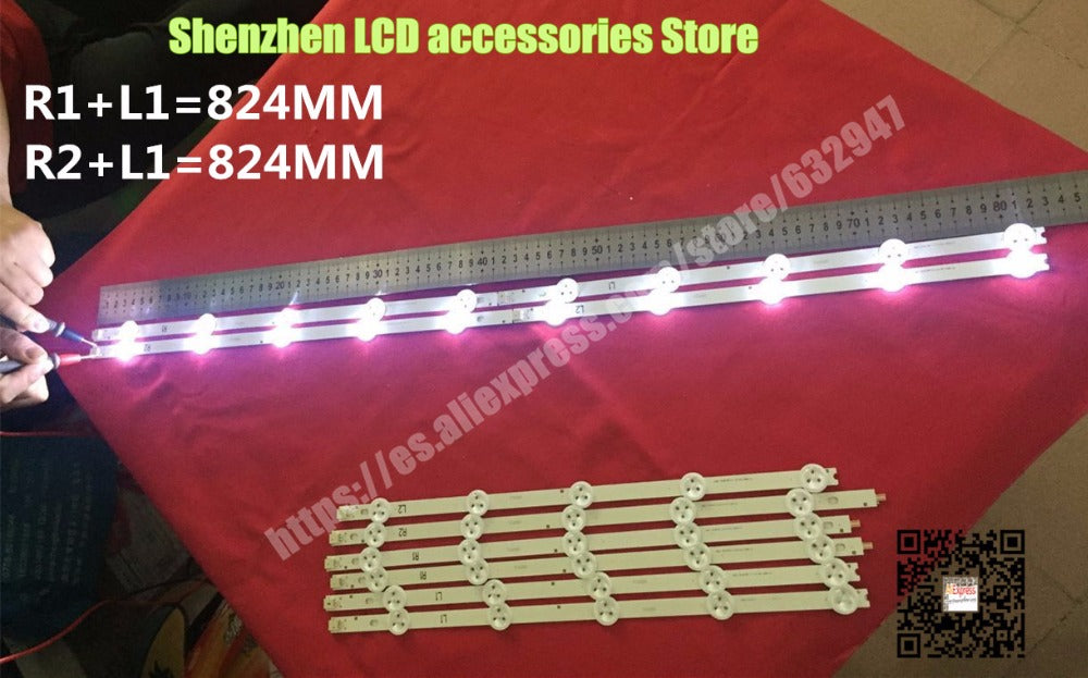 10 Pieces/lot FOR LG 42-inch LCD backlight bar LG 42LN540 42LN613 42LA620 LC420DUE R1+L1=6PCS