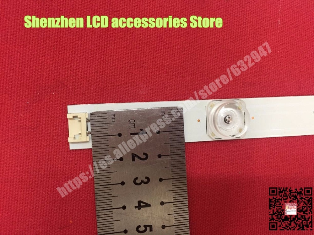 100%New LED Backligh strip 8 PCS/set =4PCS A + 4PCS B For LG TV 42LY320C LC420DUE INNOTEK DRT 3.0