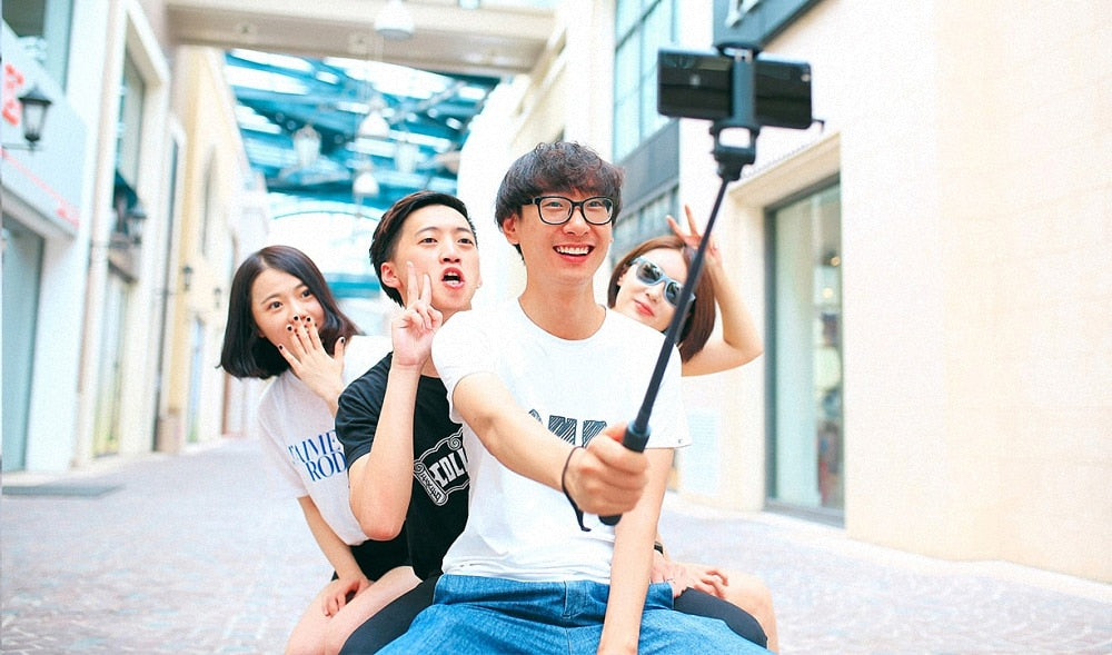 100% Original Xiaomi Selfie Stick wired MI Monopod Extendable Handheld Shutter for IOS Android