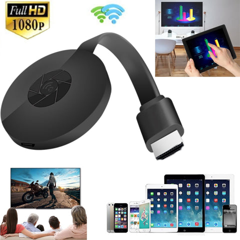 1080P Wireless WiFi Display Dongle TV Stick Video Adapter Airplay DLNA Screen Mirroring Share