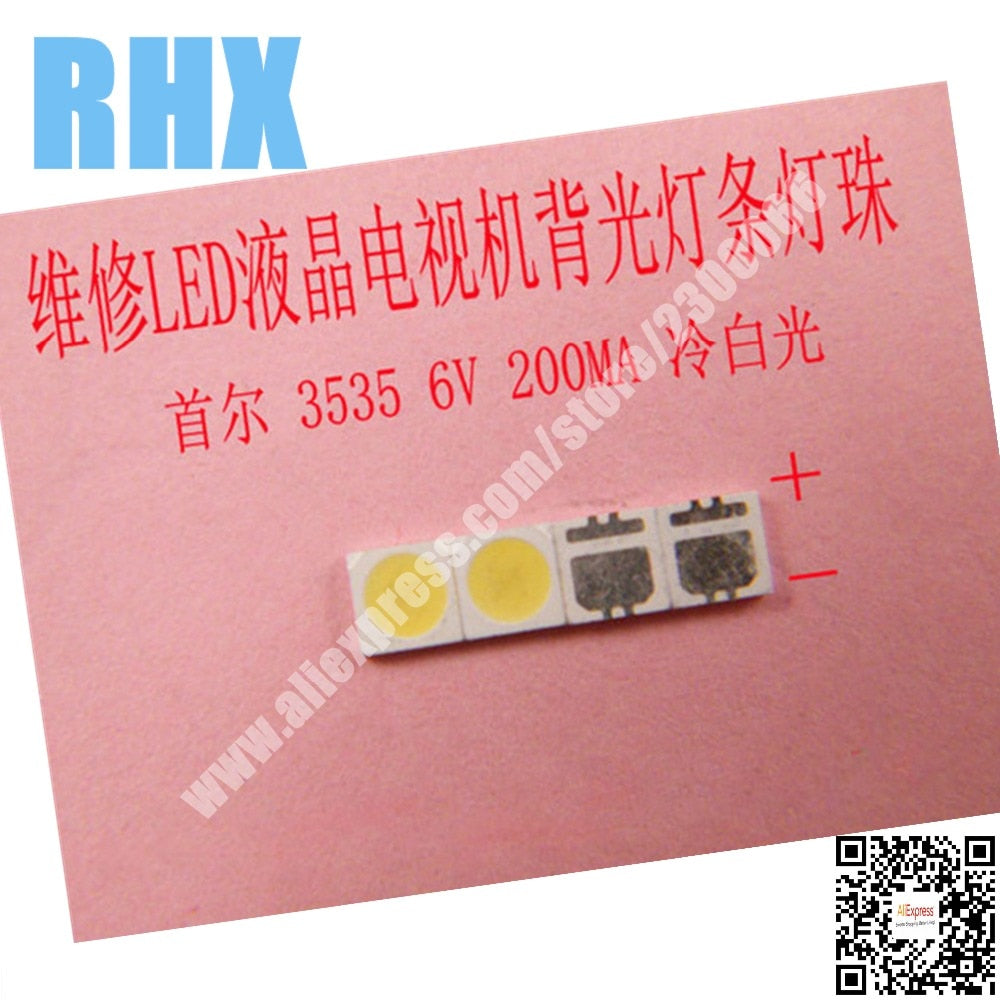 120piece/lot FOR repair Philips SONY Toshiba LCD TV LED backlight SMD LEDs Seoul 3535 6V Cold