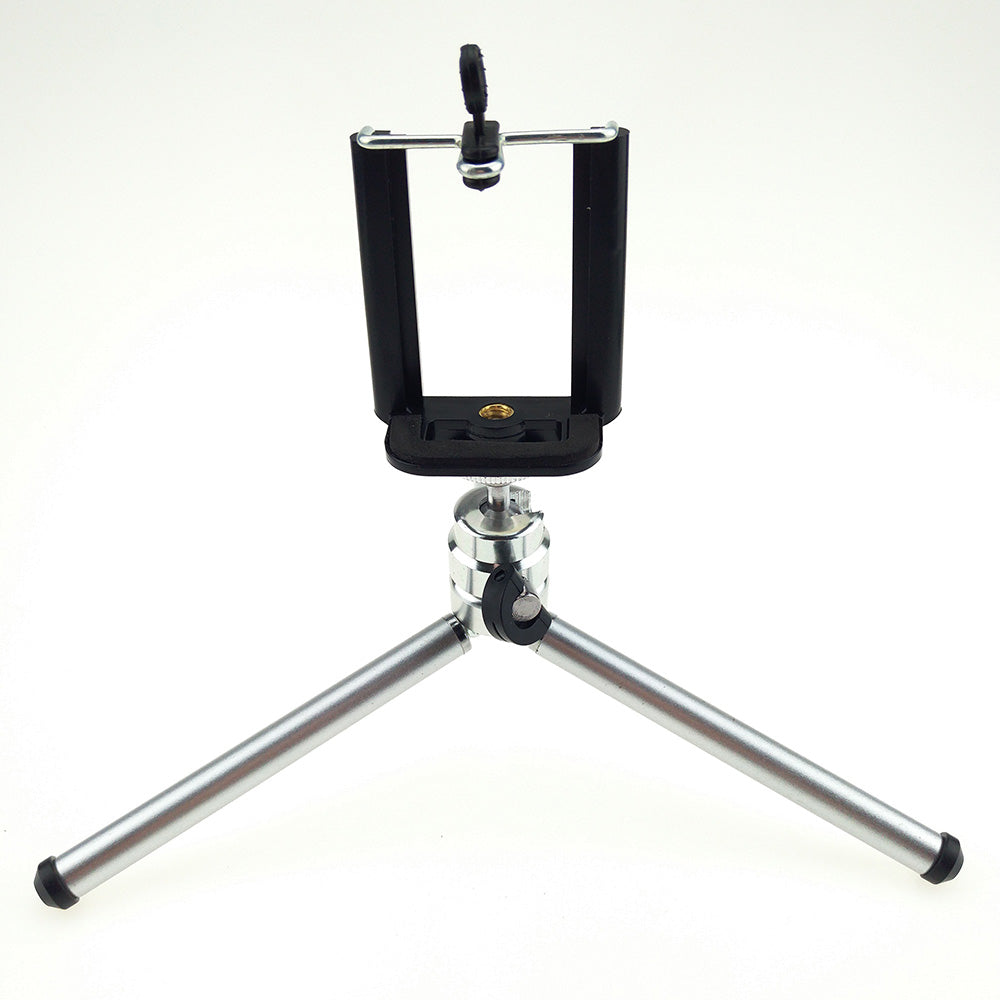 15.5-30CM 3 Sections Extendable Metal Portable Tripods with Phone Holder For Gopro Cameras Xiaomi