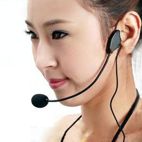 1PC Mini Portable Speakers Educational Lectures Headset Microphone Headset With 3.5mm Interface