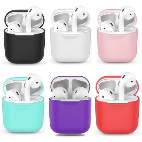 1PCS TPU Silicone Bluetooth Wireless Earphone Case For AirPods Protective Cover Skin Accessories for