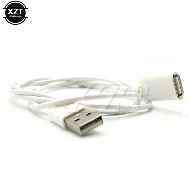 1PCS USB 2.0 Extension Data 1M Extender Charge Extension Data Male to Female M/F Extra Cable for