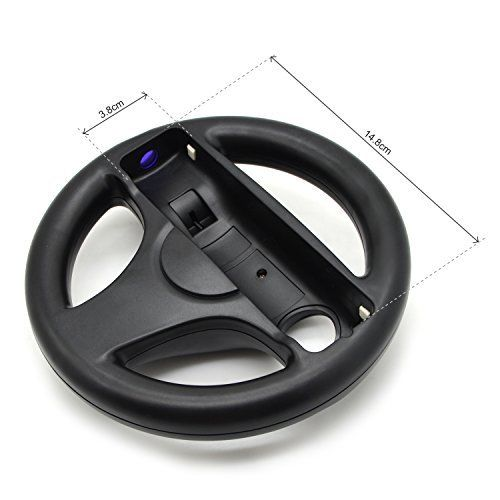 1Pcs 5 Colors Game Racing Steering Plastic Wheel for Wii Mari o Kart Remote Controller Nunchuk