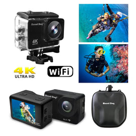 "2.0""HD 4K Waterproof Sports Video Action Camera Camcorder 30fps 170 Degree WiFi Remote Control Video"