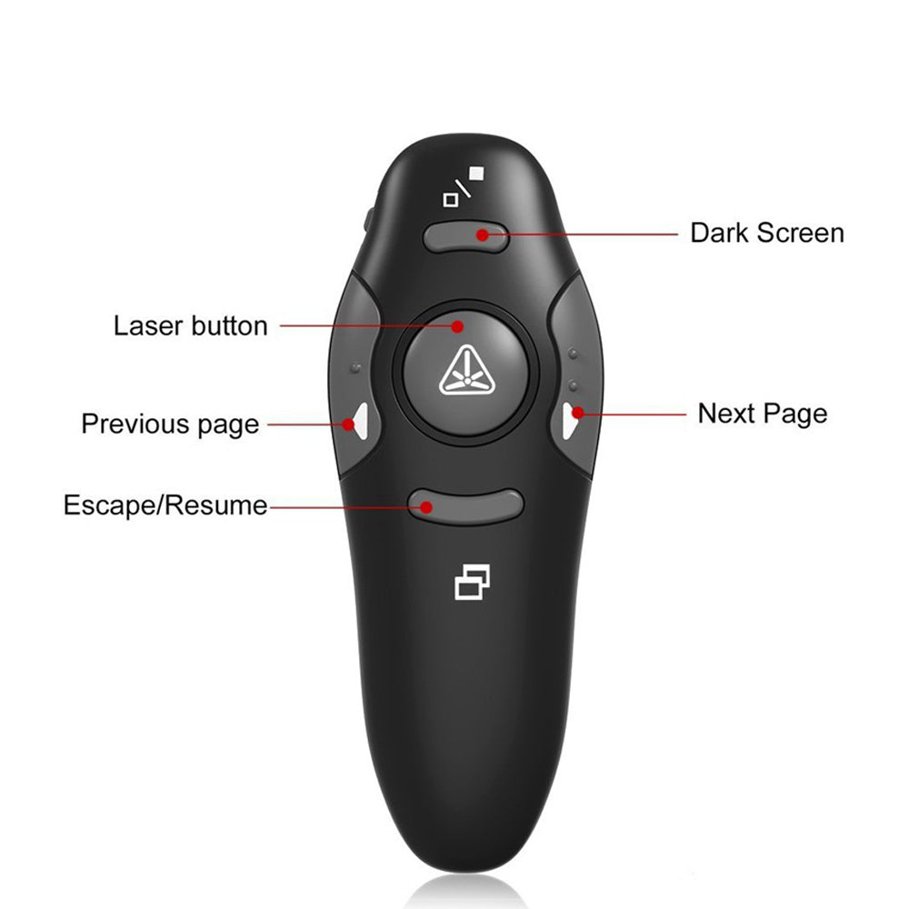 2.4 GHz Universal Wireless Remote Red Laser Pointer Presenter Pointers Pen USB RF Remote Control PPT