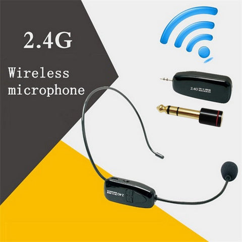 2.4G Wireless Microphone Speech Headset Megaphone Radio Mic For Loudspeaker Teaching Meeting Guide
