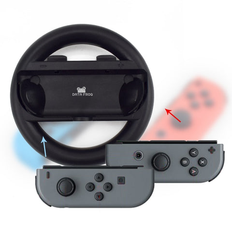 2 Pcs Racing Game Steering Wheel For Nintend Switch Remote Helm Game Wheels For Nintendo Switch NS
