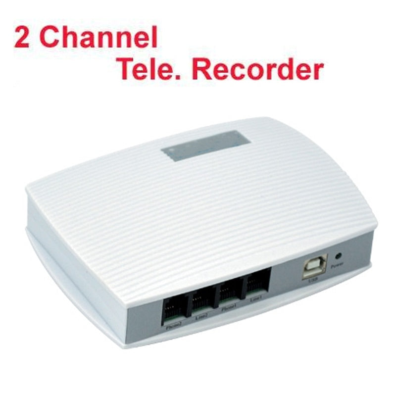 2 channels voice activated USB telephone recorder telephone monitor 4 ports USB telephone monitor