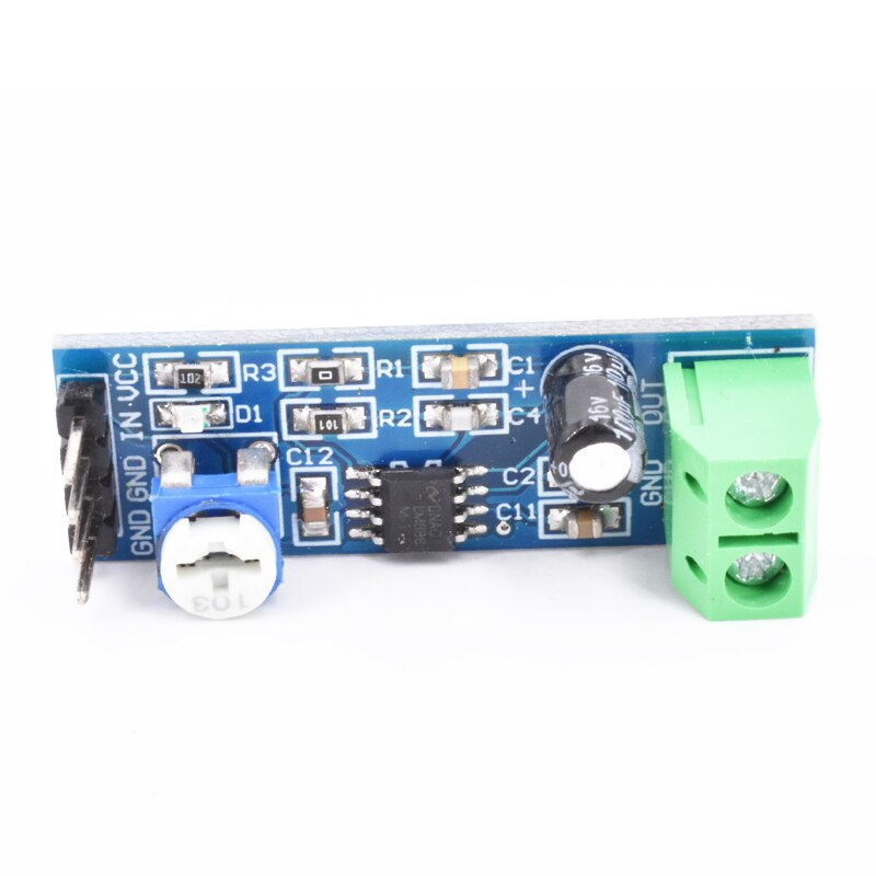 200 Times LM386 Audio Module mini amplifier 10K Adjustable Resistance Board 200 Multiplier Speaker