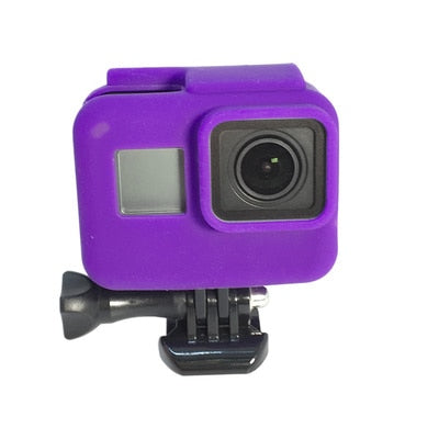 2018 Go pro Accessories Soft Silicone Case Protection lens Cover for Gopro Hero 7 6 5 Black