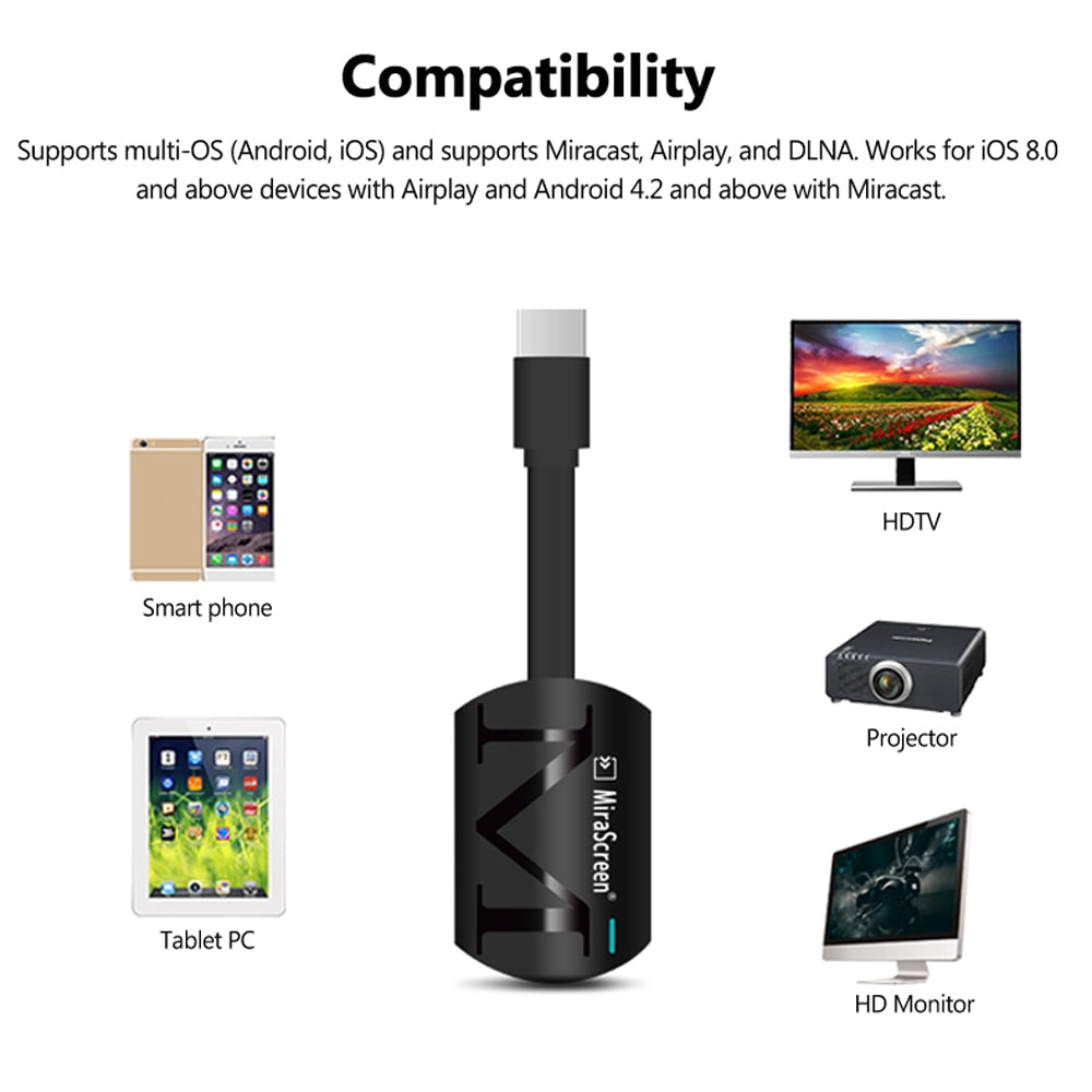2018 MiraScreen G4 TV Stick Smart Dongle Wireless Receiver DLNA Airplay Miracast Airmirroring PK