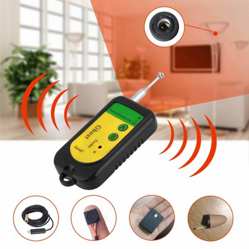 2018 New Anti Candid Camera Detector IP Lens GMS RF Signal Detector Finder All-Round Detector For