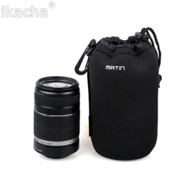 2018 New S M L XL Matin Neoprene Soft Protector Camera Lens Pouch Bag Case For Canon Nikon Sony High