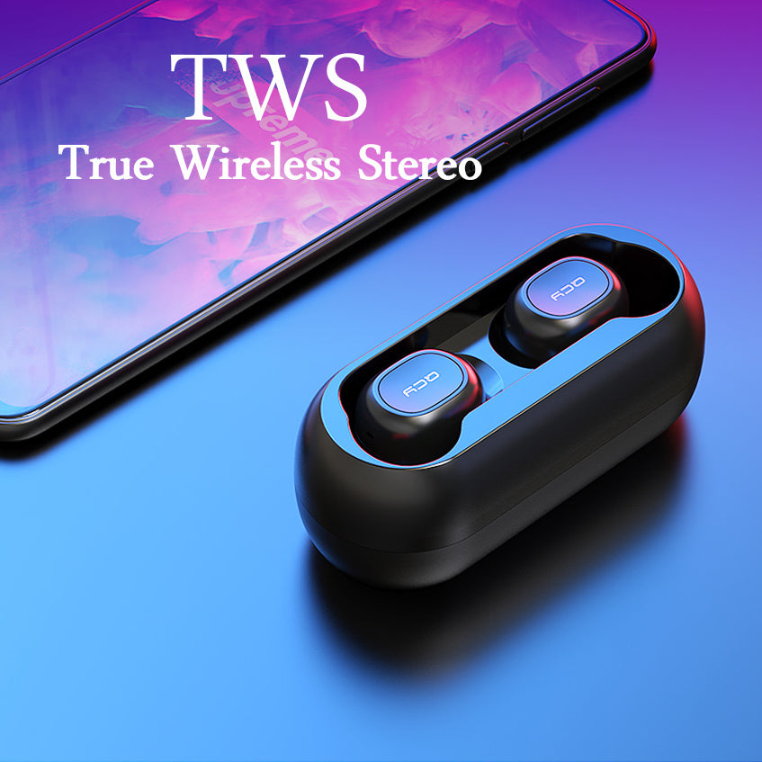 2018 QCY T1C Mini Bluetooth Earphones with Mic Wireless Sports Headphones Noise Cancelling Headset
