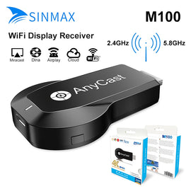 TV Stick Anycast M100 5G/2.4G 4K HDMI Miracast DLNA Airplay WiFi Display Receiver Dongle