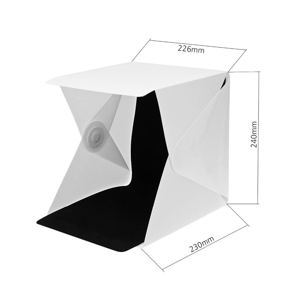 "24cm / 9"" mini Folding Lightbox Photography Studio Softbox LED Light Soft Box Camera Photo"