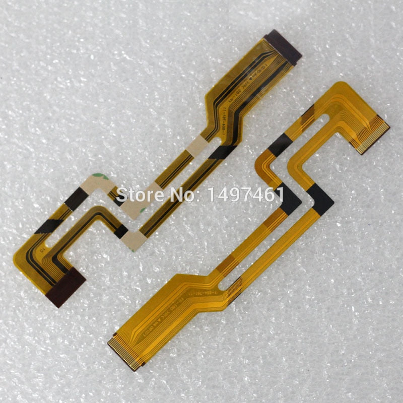 2PCS LCD hinge rotate shaft Flex Cable for Sony DCR-HC17E HC19E HC21E HC22E HC24 HC32E HC33E HC39