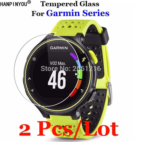 2Pcs for Garmin Forerunner Tempered Glass Premium Screen Protector Watch Film