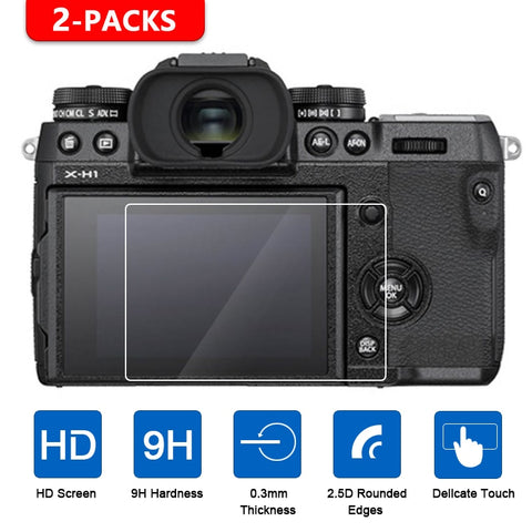 2Pcs Tempered Glass Screen Protector for Fujifilm Camera