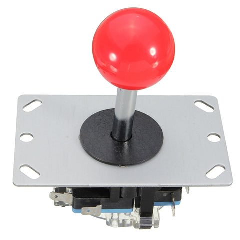 2pcs Arcade joystick DIY Joystick Red Ball 4/8 Way Joystick Fighting Stick Parts for Game Arcade