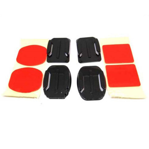 2pcs Flat Mount Adhesive + 2pcs Curved Adhesive Mount Kit for Xiaomi Yi/ SJCAM SJ4000 WIFI Sport