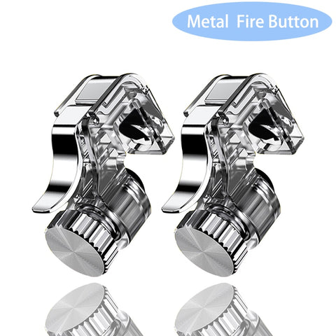 2pcs Metal Smart Phone Mobile Gaming Trigger Joystick for PUBG Mobile Gamepad Fire Button Aim Key