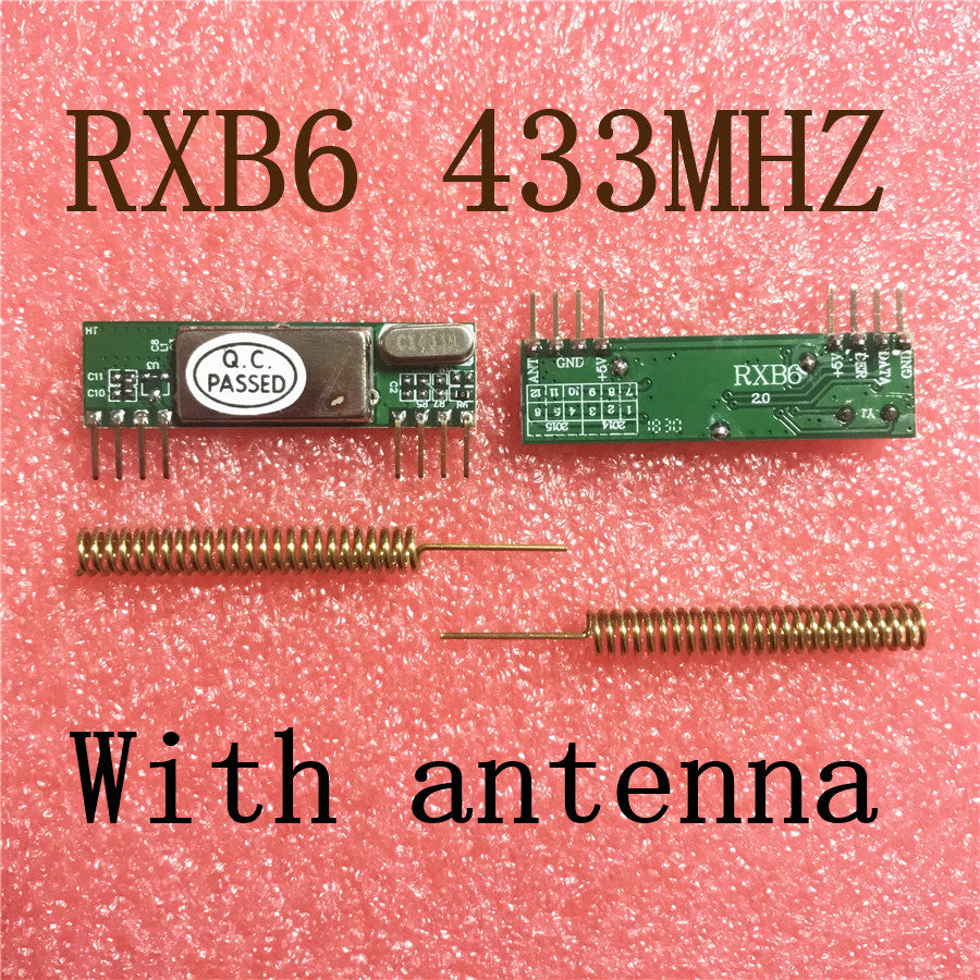 2pcs X RXB6 433Mhz Superheterodyne Wireless Receiver Module With antenna Free Shipping